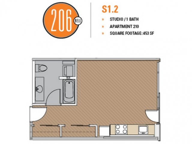 Floor Plan 12 | Apartment For Rent In Seattle | 206 Bell