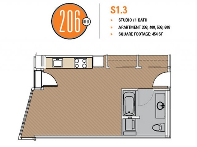 Floor Plan 13 | Apartments Seattle | 206 Bell