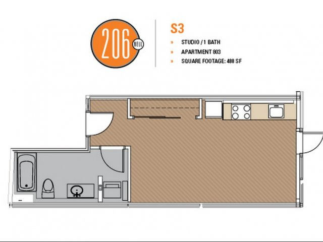 Floor Plan 19 | Apartments In Seattle | 206 Bell
