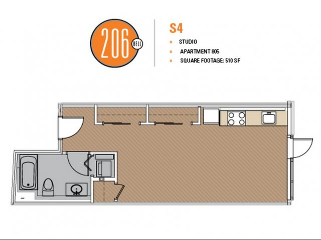 Floor Plan 20 | Apartments For Rent In Seattle | 206 Bell