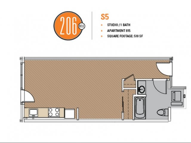 Floor Plan 22 | Apartment For Rent In Seattle | 206 Bell