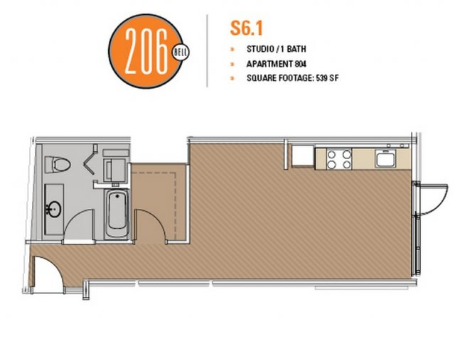 Floor Plan 23 | Apartments Seattle | 206 Bell