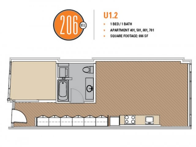 Floor Plan 27 | Seattle Apartments | 206 Bell