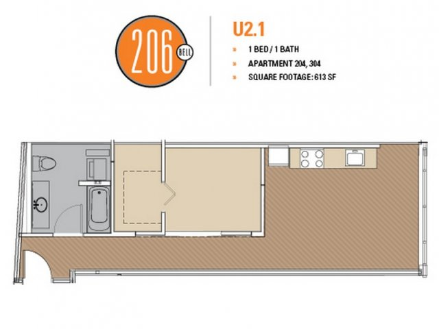 Floor Plan 29 | Apartments In Seattle | 206 Bell