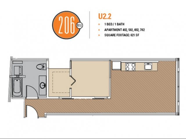 Floor Plan 30 | Apartments For Rent In Seattle | 206 Bell