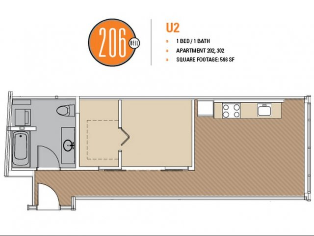 Floor Plan 32 | Apartment For Rent In Seattle | 206 Bell