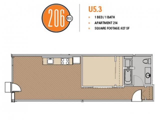 Floor Plan 39 | Apartments In Seattle | 206 Bell