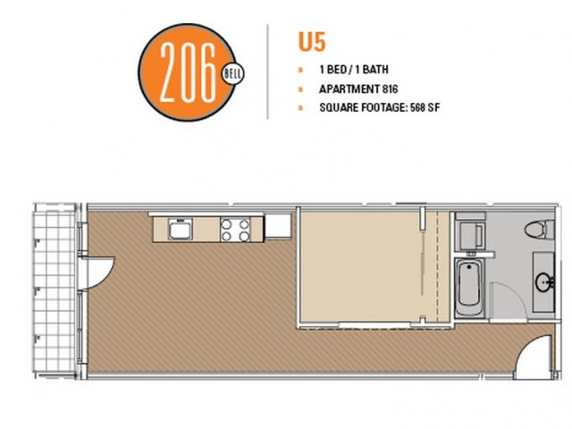 Floor Plan 40 | Apartments For Rent In Seattle | 206 Bell