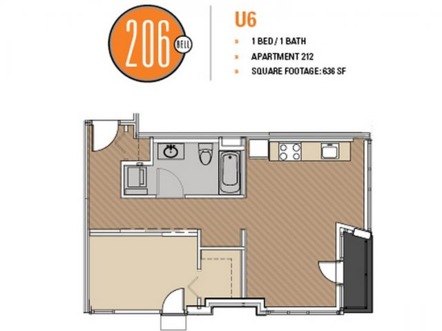 Floor Plan 42 | Apartment For Rent In Seattle | 206 Bell