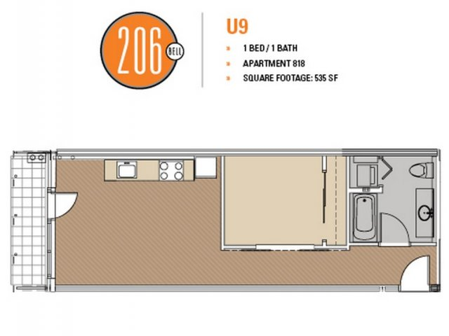 Floor Plan 49 | Apartments In Seattle | 206 Bell