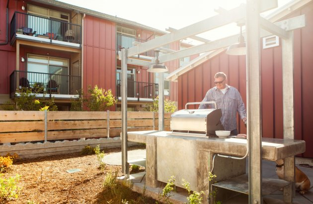 Outdoor living at apartments in Lynnwood, WA