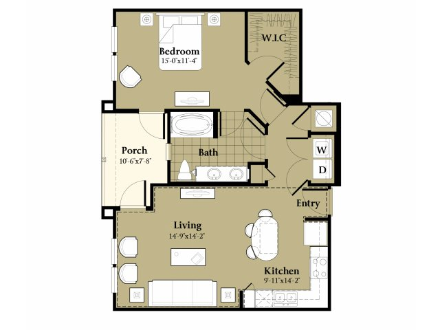 Spacious Floor Plans | Apt For Rent In Orlando FL | Sanctuary at Eagle Creek