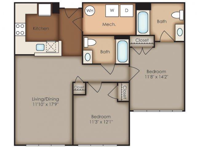 Floor Plan 38 | Del Ray Central