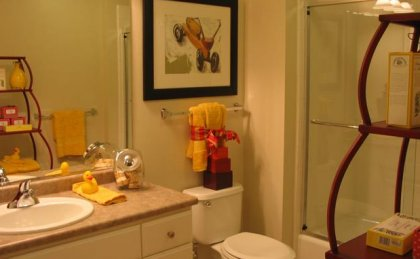 The Vineyards Apartments offers modern bathrooms