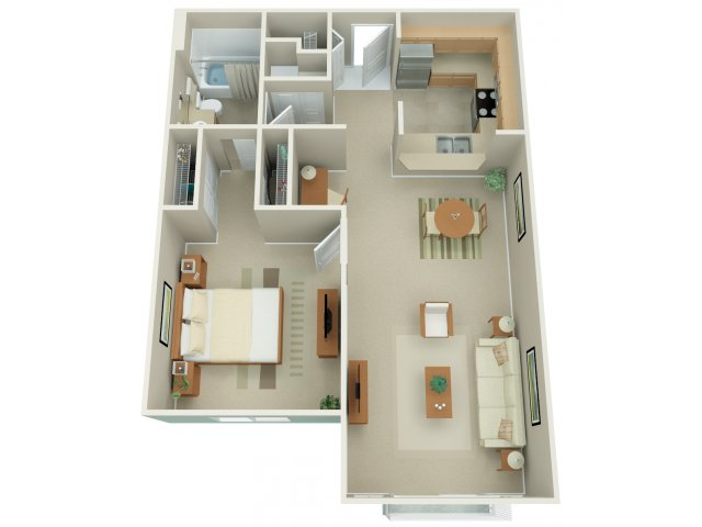 One Bedroom Floor Plan | Apex 8