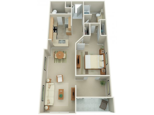 One Bedroom Floor Plan | Apex 12