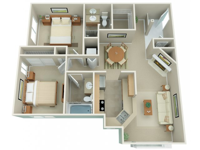 2 Bedroom Floor Plan | Apex