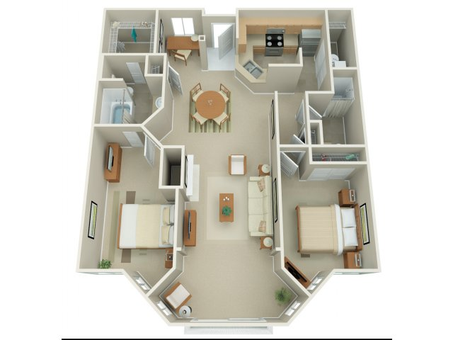 2 Bedroom Floor Plan | Apex 5