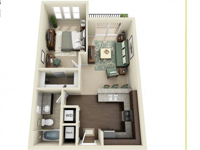 One Bedroom 2   927 West Morgan