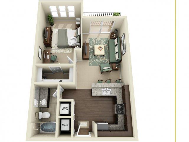 One Bedroom   927 West Morgan