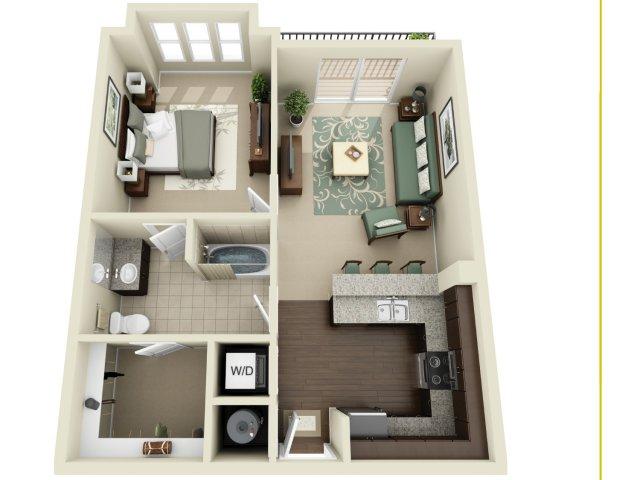 One Bedroom 5   927 West Morgan