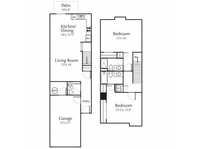 Floor Plan | Junction City Apartments | Patriot Pointe