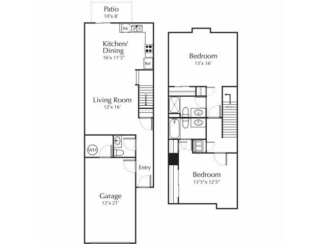 Floor Plan 2 | Junction City Apartments | Patriot Pointe