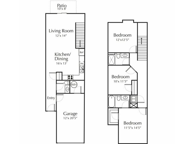 Floor Plan 3 | Junction City Apartments | Patriot Pointe
