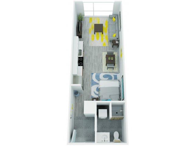 Studio Floor Plan 2   The Addy