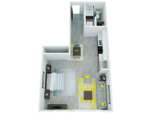 Studio Floor Plan 4   The Addy