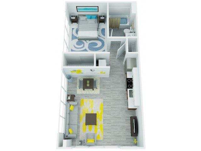 One Bedroom Floor Plan 6   The Addy