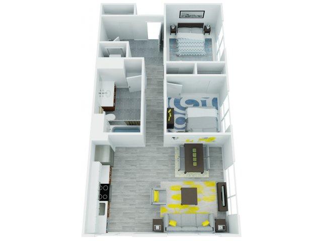 Two Bedroom Floor Plan   The Addy