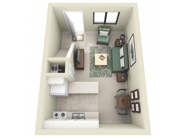 Studio Floor Plan | La Vista 3