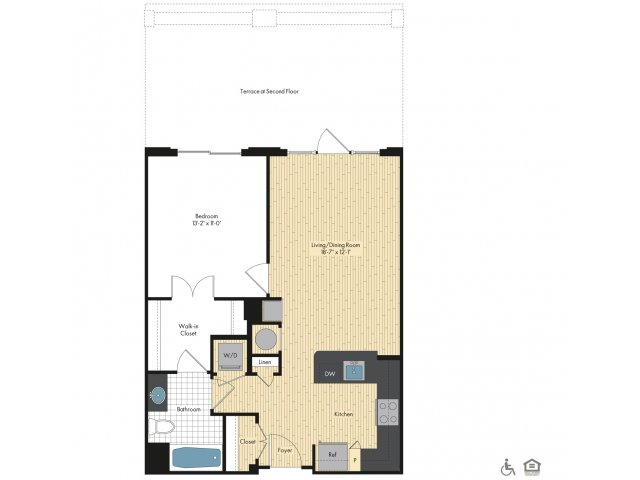 Floor Plan 8   Luxury Apartments In Bethesda MD   Upstairs at Bethesda Row