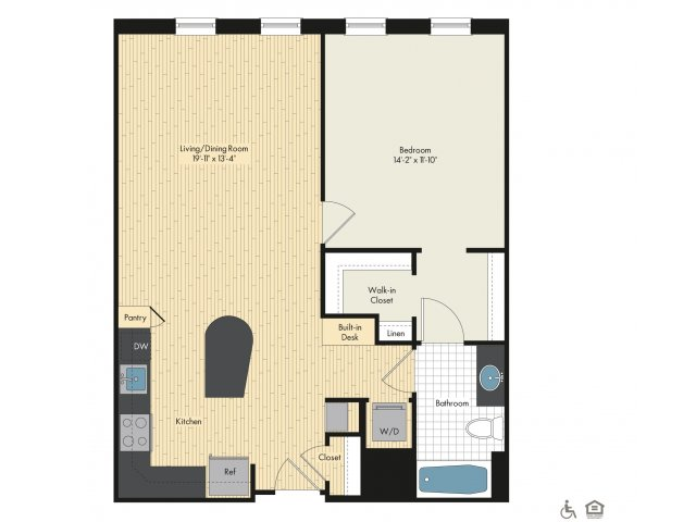 Floor Plan 4 | Bethesda Luxury Apartments | Upstairs at Bethesda Row
