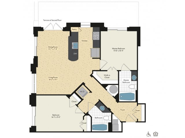 Floor Plan 27 | Apartments For Rent In Bethesda Maryland | Upstairs at Bethesda Row