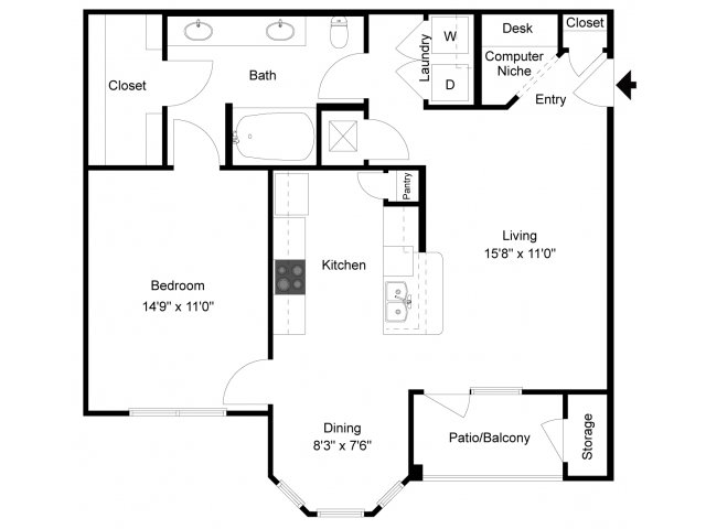 Mission Millbrook Apartments Floor Plans: 1 Bed / 1 Bath Apartment In Richmond TX