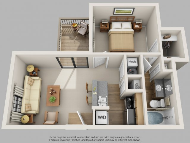 Floor Plan 1 | Mountain Run Apartments
