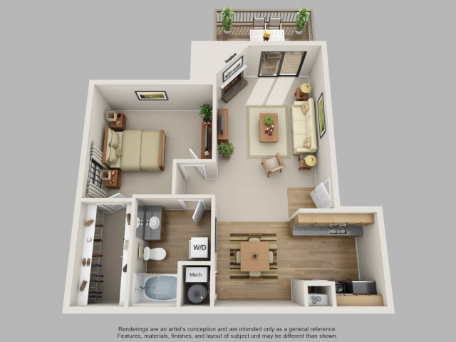 Floor Plan 3 | Mountain Run Apartments