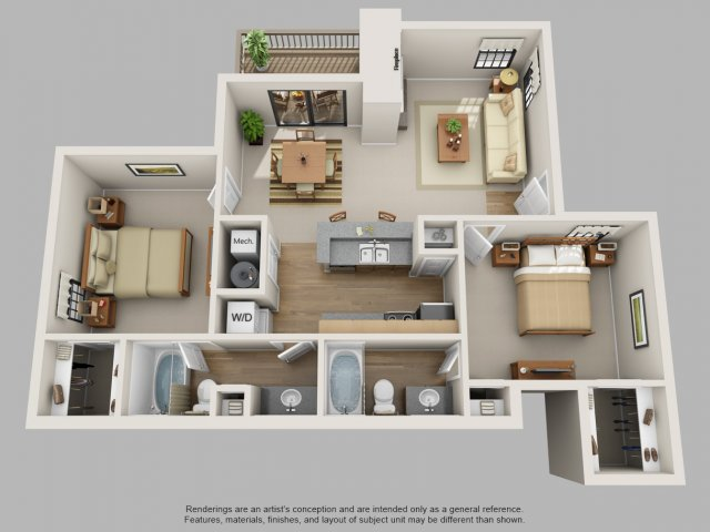 Floor Plan 7 | Mountain Run Apartments
