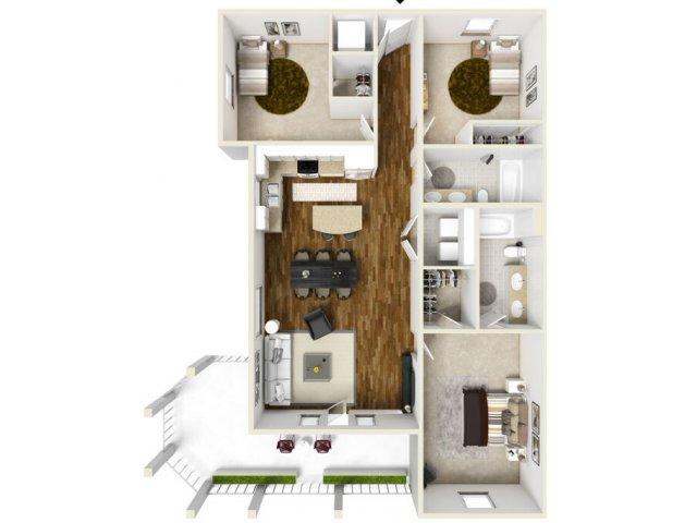 3 bed 2 Bath | Navarre Apartments | The Sound at Navarre Beach