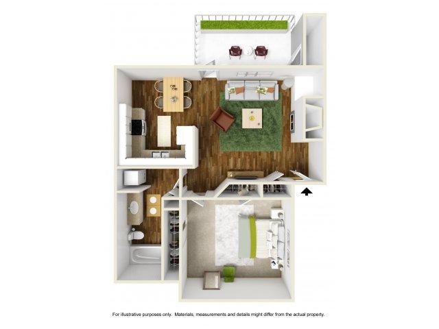 1 Bedroom Floor Plan | Rivercrest Meadows 2
