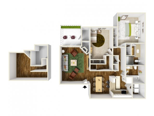 2 Bedroom Floor Plan | Rivercrest Meadows 6