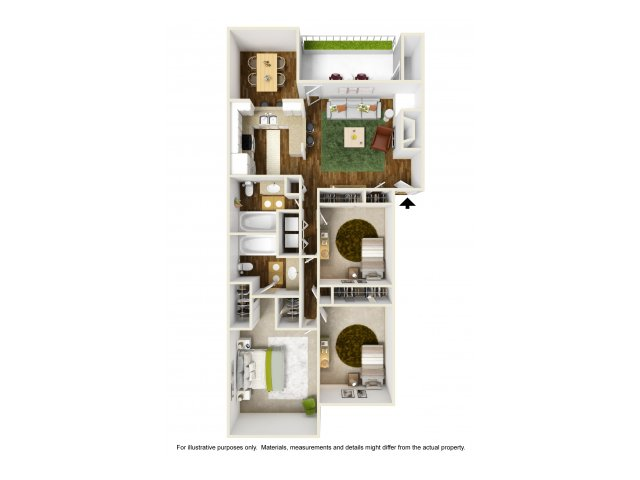 3 Bedroom Floor Plan | Rivercrest Meadows 2