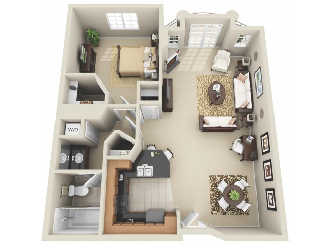 One Bedroom Floor Plan | Apartments In Los Angeles | The Preston Miracle Mile