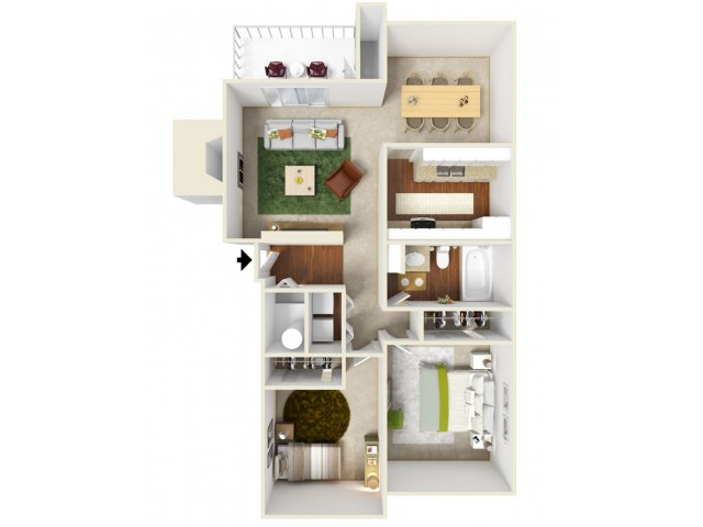 Two Bedroom Floorplan | Landmark
