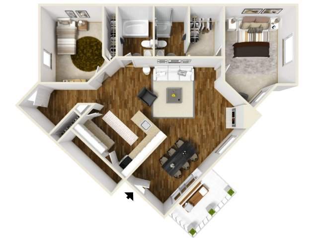 Floor Plan 4 | Village Creek