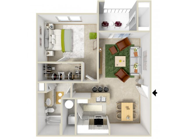 Floor Plan 2 | Laurel Canyon Apartments 2
