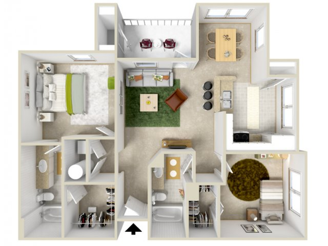Floor Plan 4 | Laurel Canyon Apartments 2