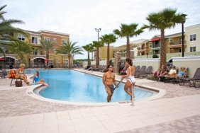 Residents Playing in the Pool | Orlando Apartments For Rent | Urbana